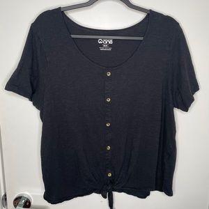 🎁4/20$🎁 tie knot oversized t-shirt